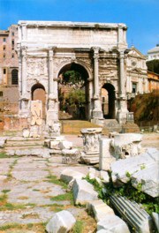 Arch of Constantine in the Roman Forum