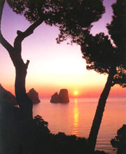 The Faraglioni Rocks of Capri island