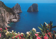 The well-known Faraglioni Rocks of Capri
