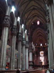 Inside of the Duomo in Milano