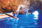 Detail of the Blue Grotto of Capri