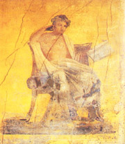 THE FRESCO OF THE MENANDER WHICH GIVES ITS NAME TO THE FAMOUS HOUSE OF POMPEII