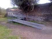 One of the ramps for wheelchairs in Pompeii