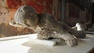 Plaster cast of a Pompeian citizen