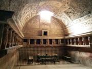 Inside view of the tepidarium (lukewarm room) of thermal baths in Pompeii