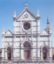 The facade of Santa Croce in Florence