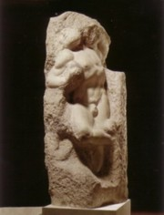 Slave of Michelangelo's prisons in the Accademi Gallery