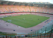 Inside the San Paolo Stadium in Naples