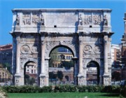The arch of Constantine in the Roman Forum
