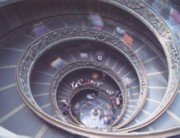 The helicoidal staircase at the Vatican Museums by Giuseppe Momo