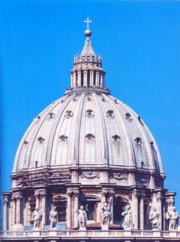 The majestic dome of St. Peter's