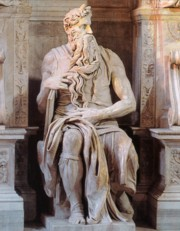 The famous Tomb of Pope Julius II by Michelangelo