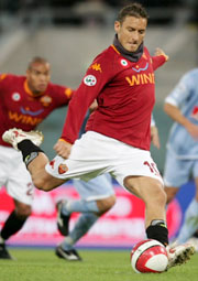 Francesco Totti, the captain of Roma football club