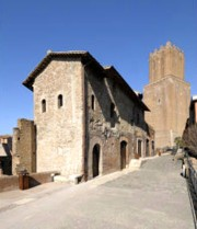View of Via della torre tower in the Trajan's markets