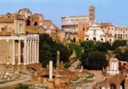 View of the Roman Forum from Via Sacra
