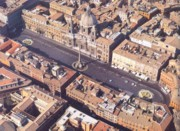 Aerial view of Piazza Navona