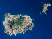 Satellite view of the island of Ischia