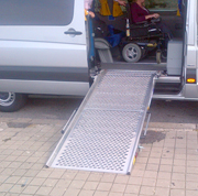 Minibus for disabled with specific ram