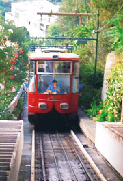 The funicolar railway at Capri