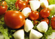 The Caprese salad, the typical dish of Capri island