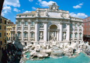 The famous Trevi Fountain in Rome