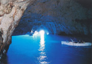 The interior of the famous Blue Grotto