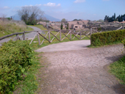A stretch of the way for the wheelchairs in Pompeii