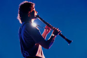 Atmosphere with clarinet in the Villa Rufolo at Ravello