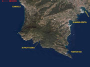 Map of Portofino and Santa Margherita Ligure area