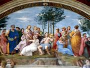 Particular of Stanza della Segnatura in the Vatican Museums
