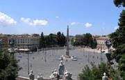 Piazza del Popolo square in Rome