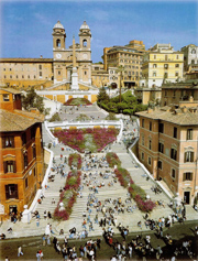 The famous Spanish Steps in Rome