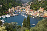 A beautiful view of Portofino