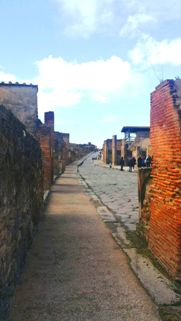 Example of old road in Pompeii ruins