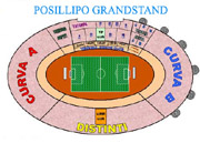 Blocks of seats in San Paolo Stadium of Naples: Your reservation is at the Posillipo Grandstand