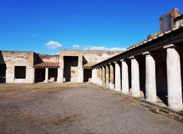 Outside view of thermal baths in Pompeii ruins