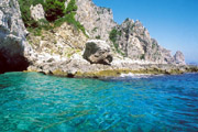 A stretch of  coast in Capri