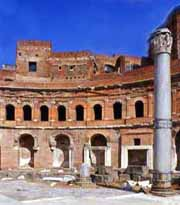A view of the great House of the Trajan's Markets