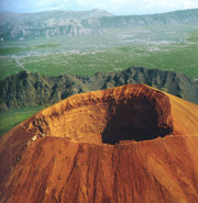 Bird's eye view of Vesuvius